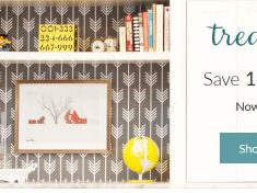 15 percent off wallpapers on Spoonflower