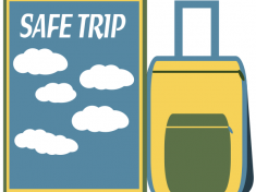 SAFE TRIP greeting card tag for January 2017 by Anino Ogunjobi