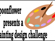 spoonflower design challenge painting tag