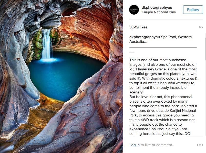 Spa pool in Karijini National Park Australia by Dkphotographyau
