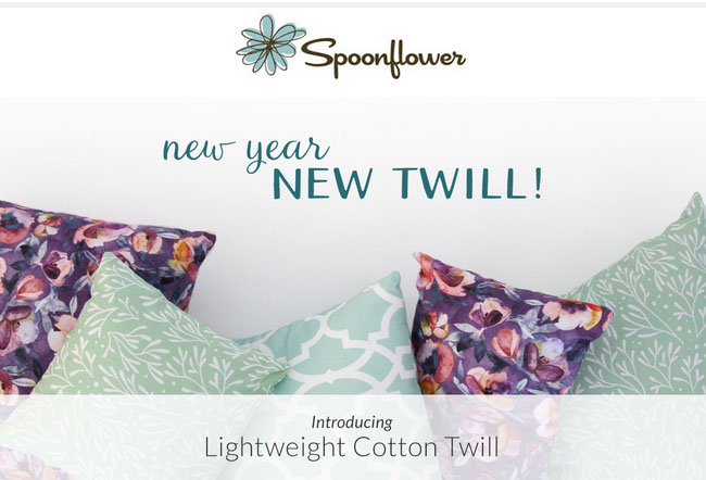spoonflower lightweight cotton twill