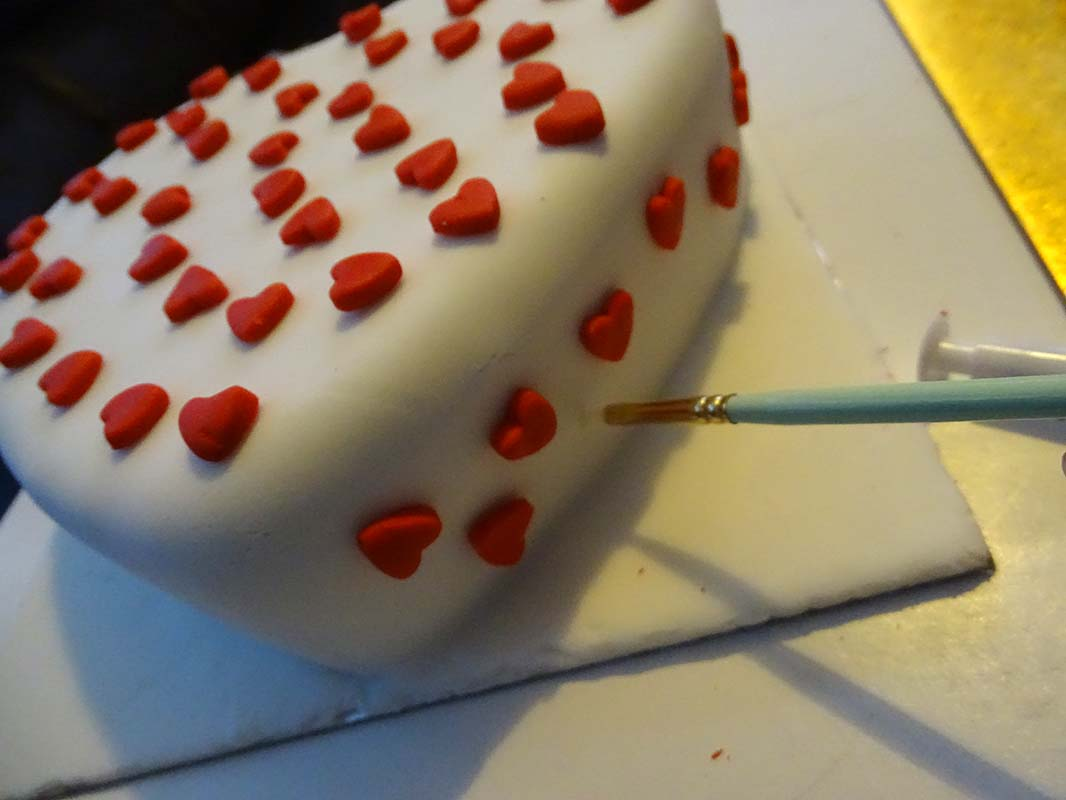 heart shape and mini punch heart valentine cake image 11
