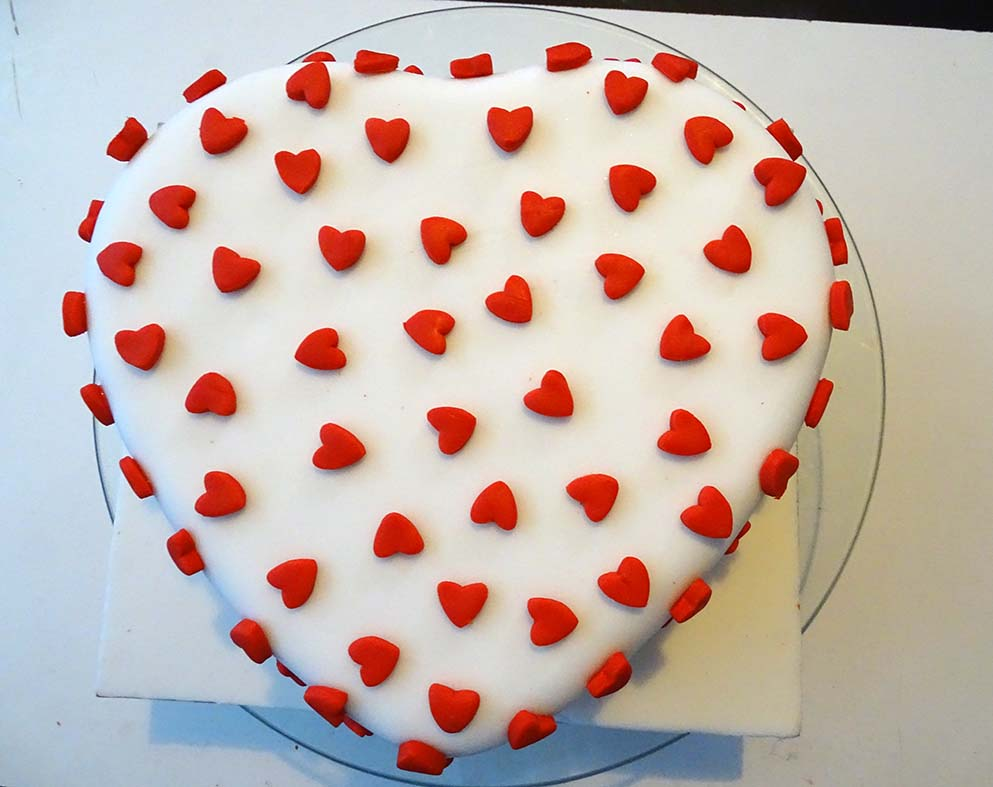 heart shape and mini punch heart valentine cake image 12