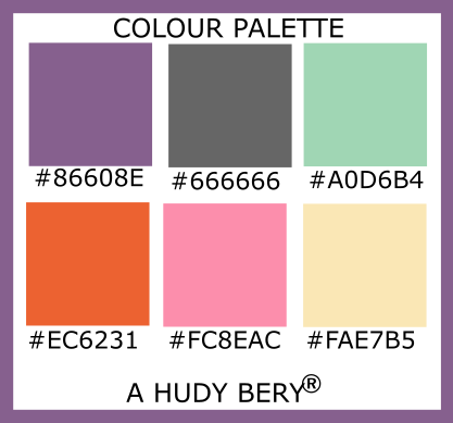 French lilac, Kryon classic gray, Turquoise green, HTML5, Flamingo pink, Banana mania, Colour palette of the day