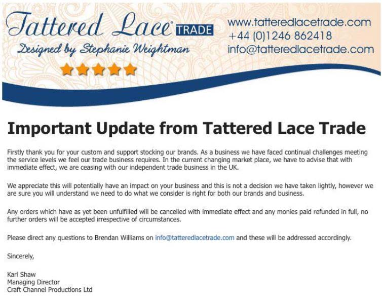 tattered lace and independent retailers