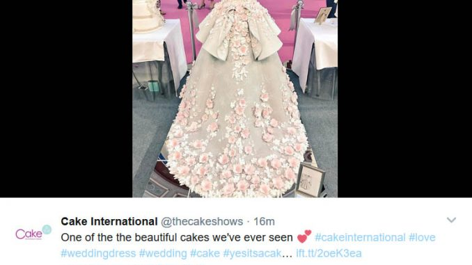 A show stopping with intriguing imagination life-size cake bride in ...