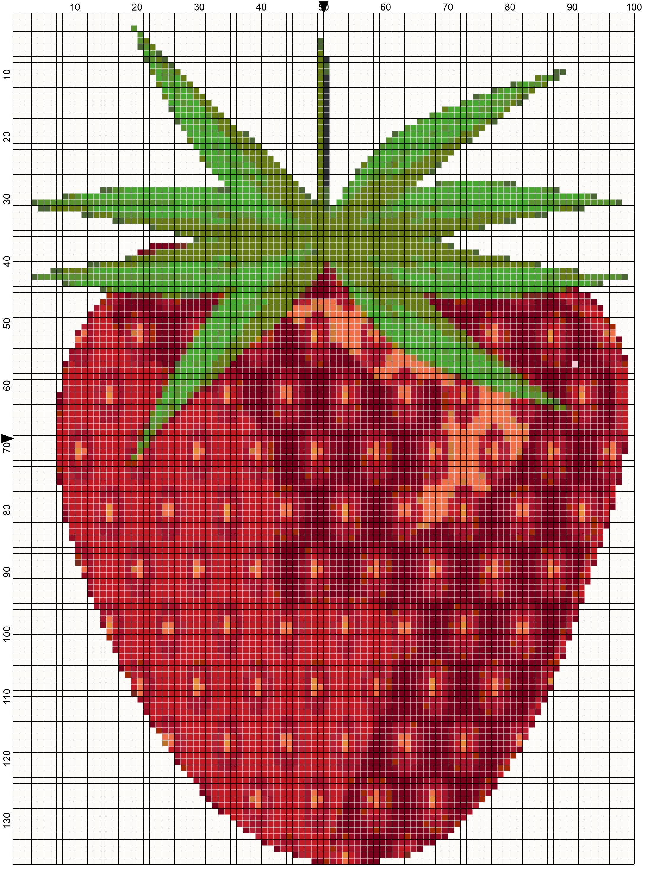 Day 20 of 30 days with Strawberry: Make a Strawberry Cross Stitch ...