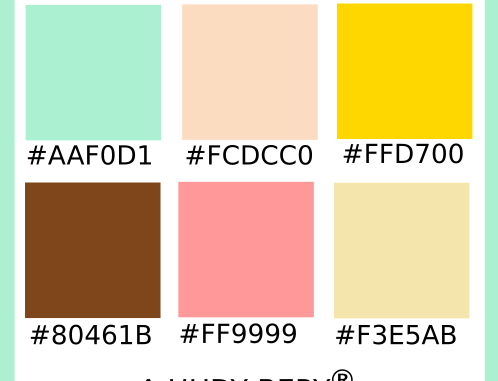 Magic Mint Caparol 90 15 45 Lachs Gold Russet Light Salmon Pink Medium Champagne Colour Palette Of The Day