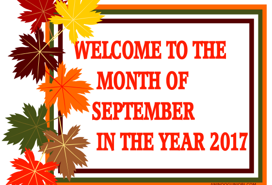 New month welcome to the month of september in 2017 anino our m4hsunfo