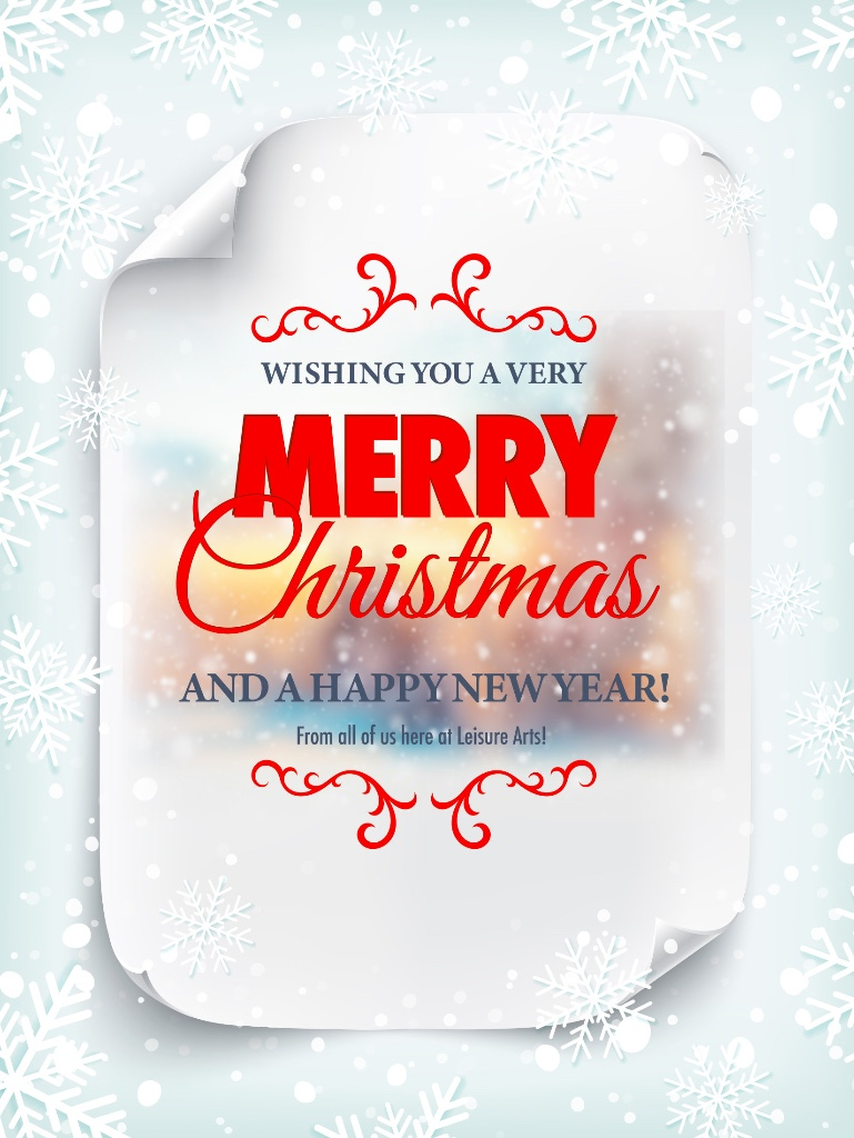 A Merry Christmas And Happy New Year Greetings From Leisure Arts Anino