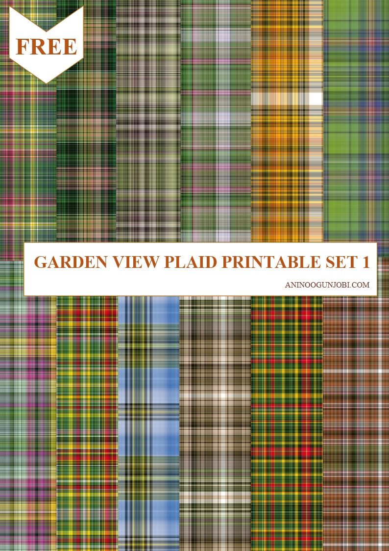 Garden view plaid printable set 1