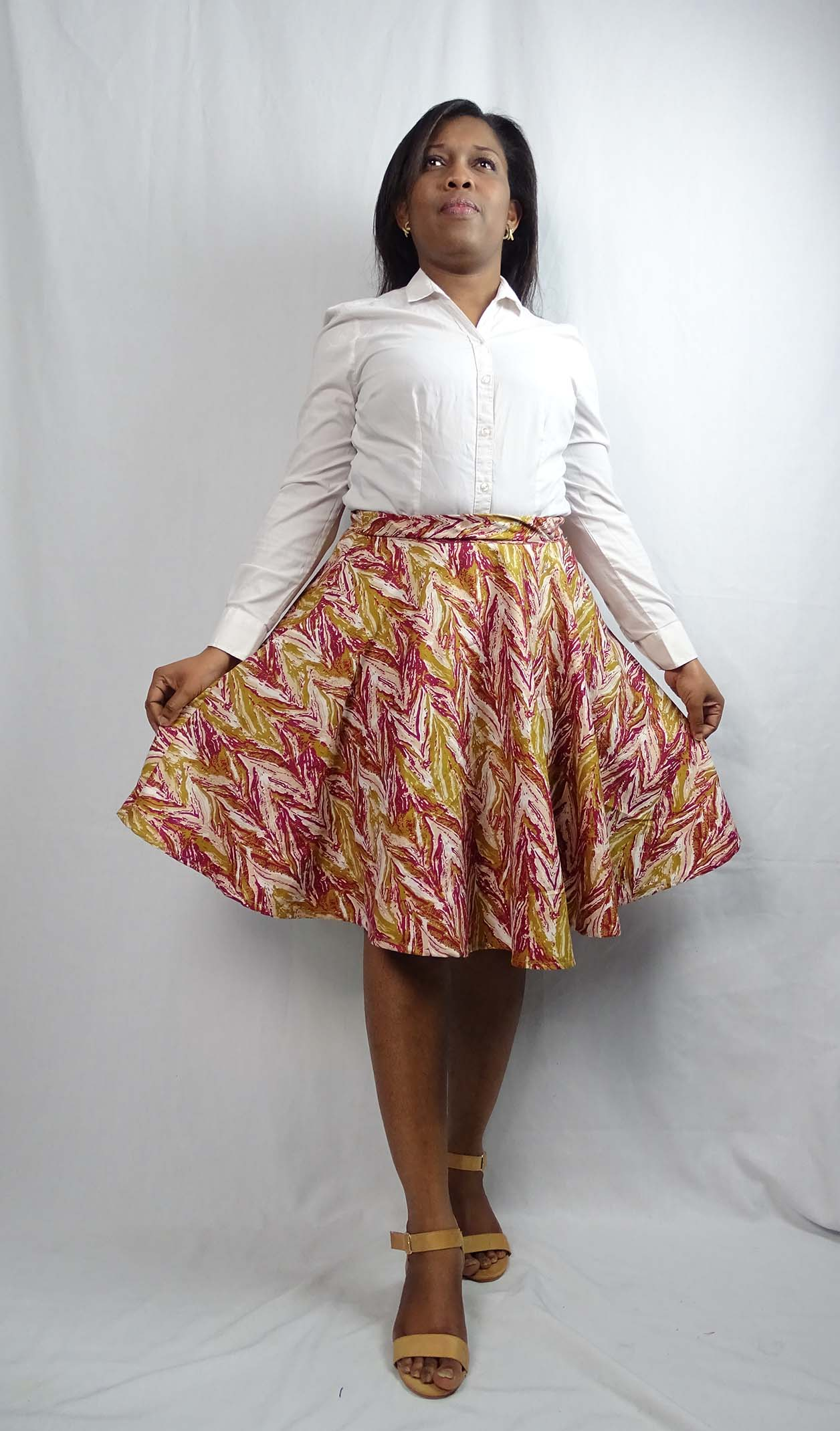 Tie and dye McCalls 6994 skirt by Anino