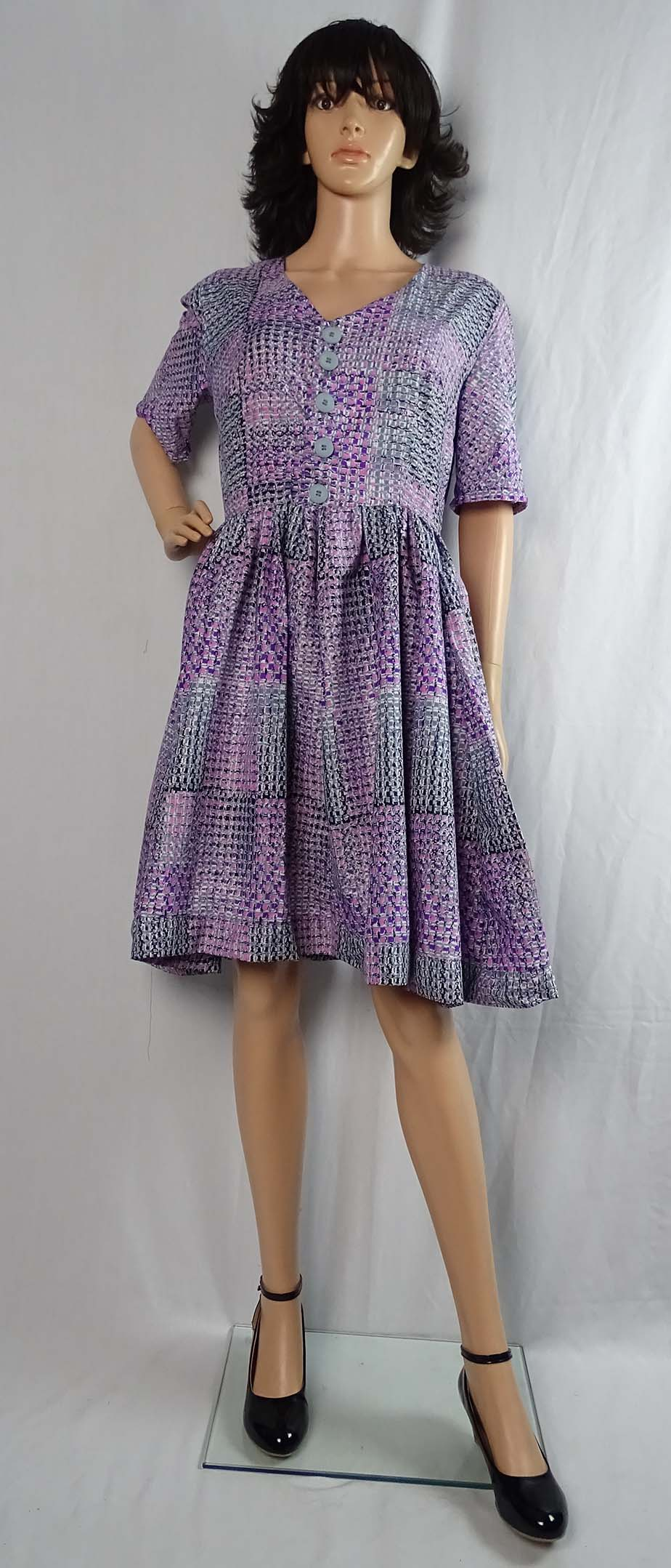Wax print Simplicity 1459 top and skirt 5 by Anino