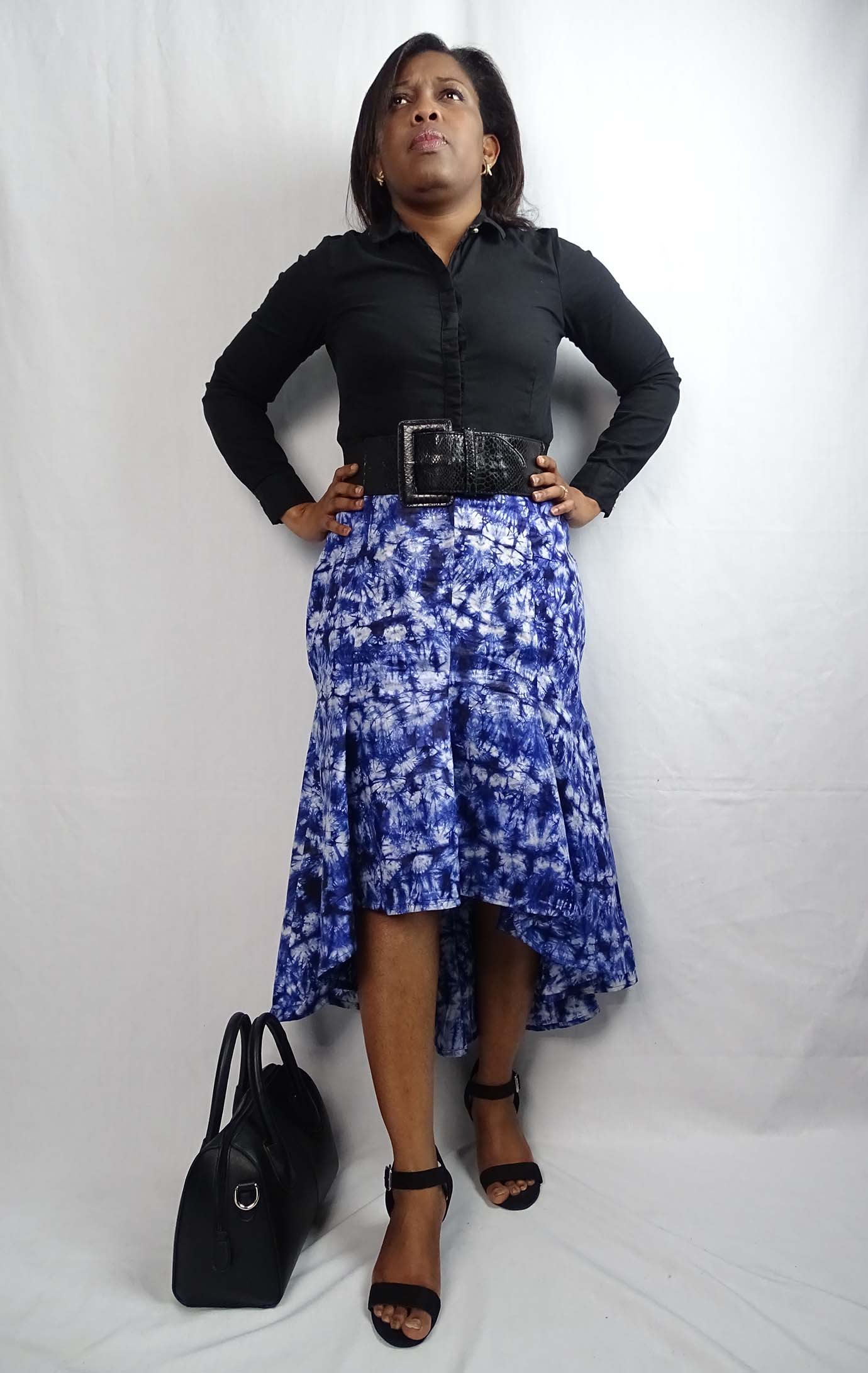 tie and dye Mccalls 7054 skirt by Anino