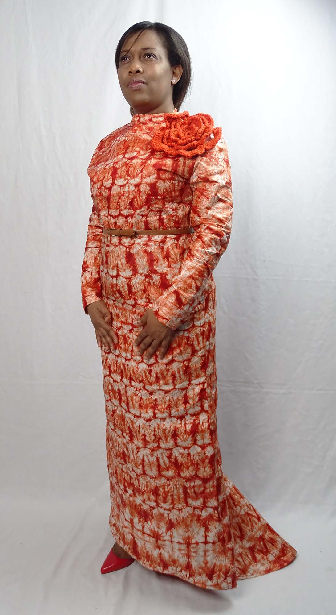 tie and dye vogue 2237 gown