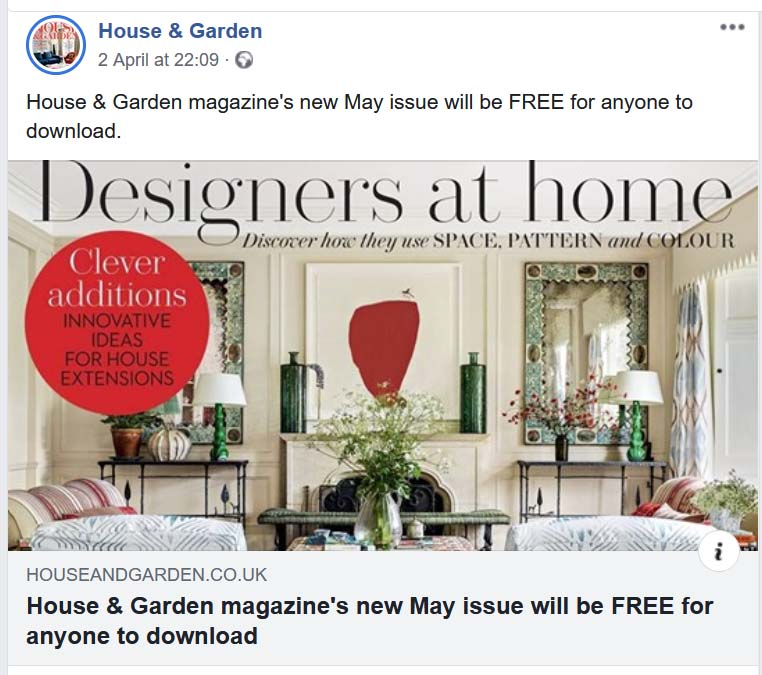 Magazine Showing Support In Dire Season House Garden Magazine Offers Its May 2020 Free To Download Anino