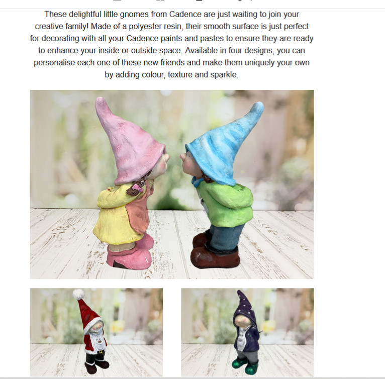 Gnome by Cadence on Ihub and Create and Craft TV