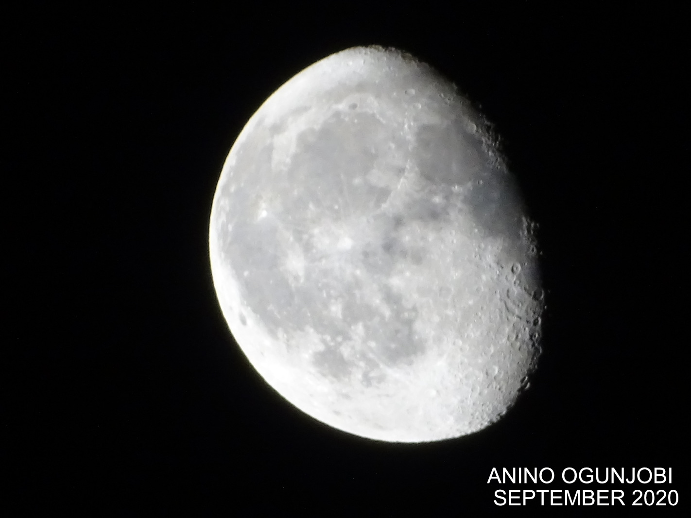 Waning Gibbous Moon september 2020