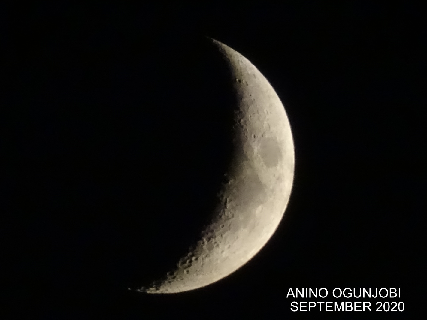 Waxing Crescent moon phase September 2020