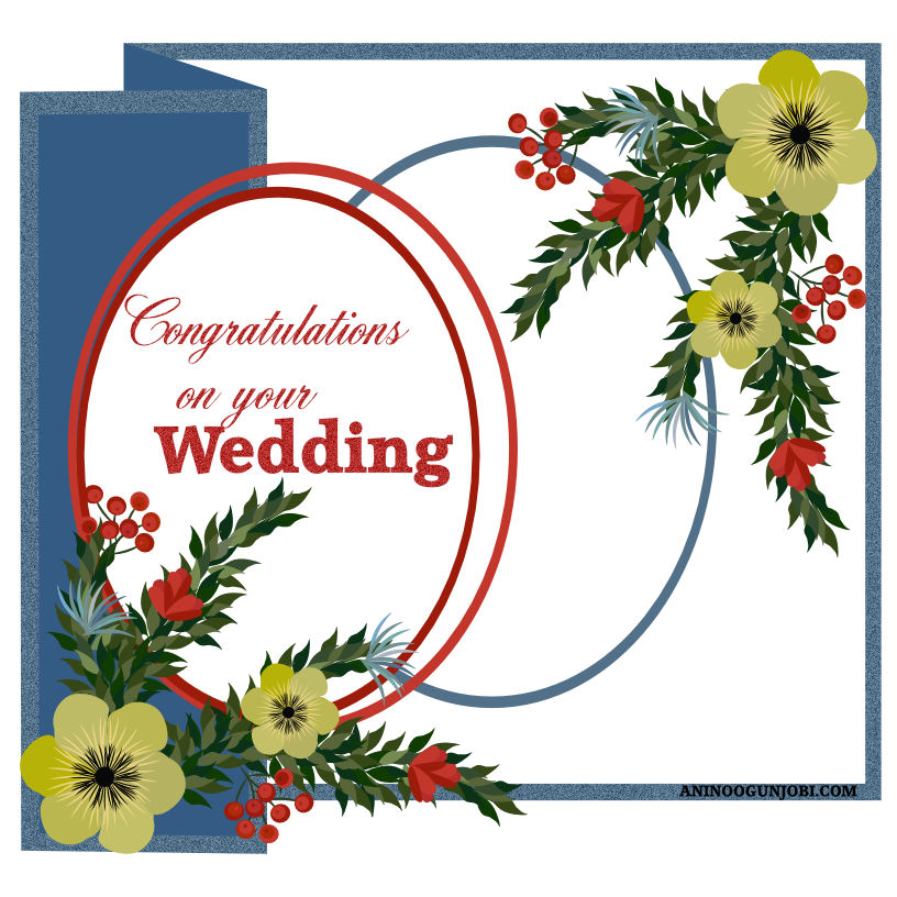 Wedding greeting card for September 2020 by Anino Ogunjobi