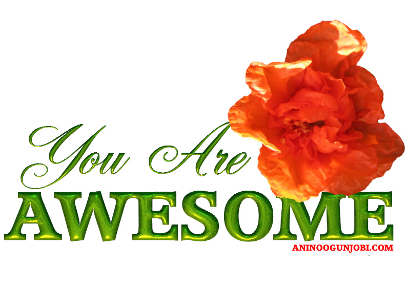 You are awesome greeting card for September 2020 by Anino Ogunjobi