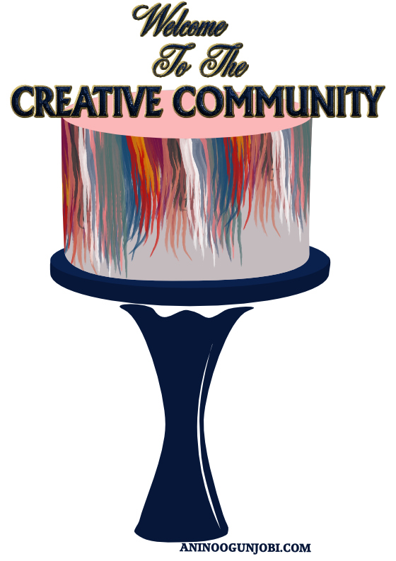 welcome to the creative community greeting card for September 2020 by Anino Ogunjobi
