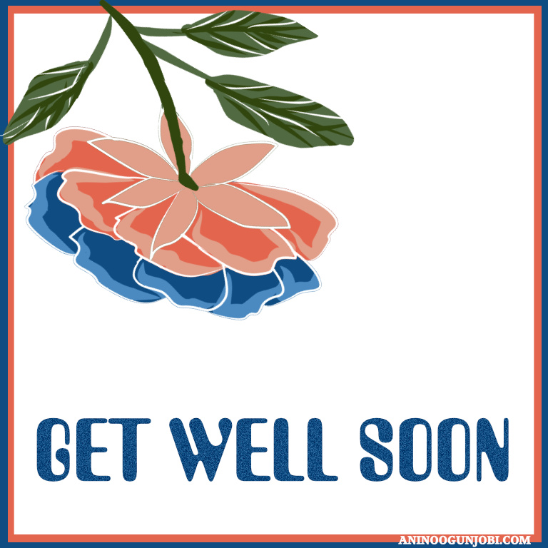 Get well soon greeting card for October 2020 by Anino Ogunjobi