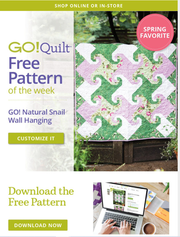 Accuquilt-GO-Natural-Snail-Wall-Hanging-Pattern