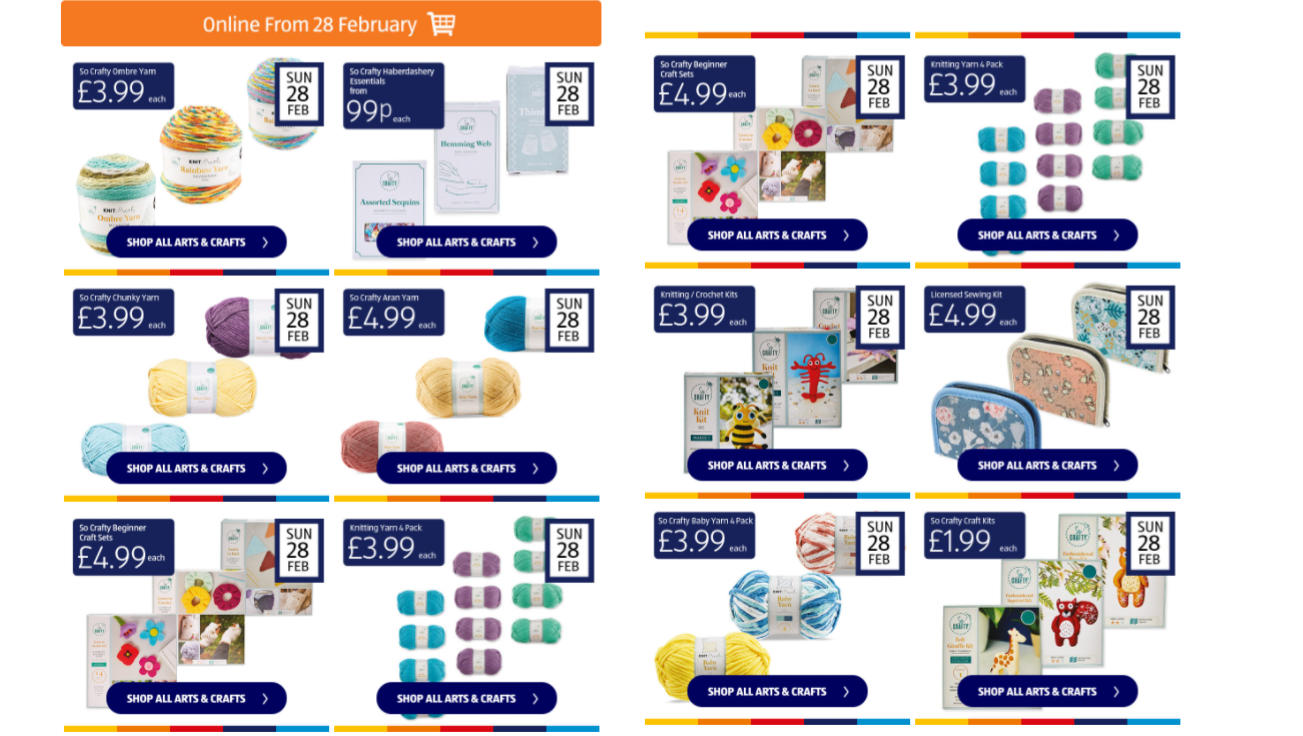 Aldi-craft-deals-for-4th-march-2021