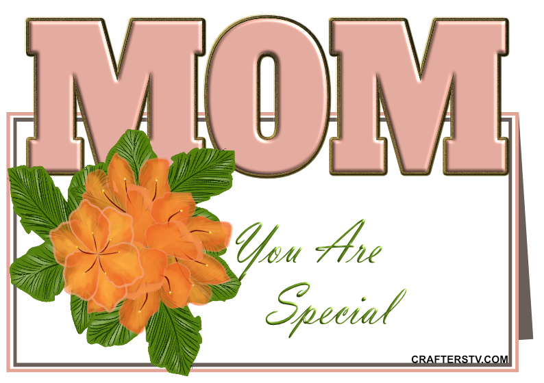 Mother's Day Greeting Card 2 by Anino Ogunjobi and Crafters TV