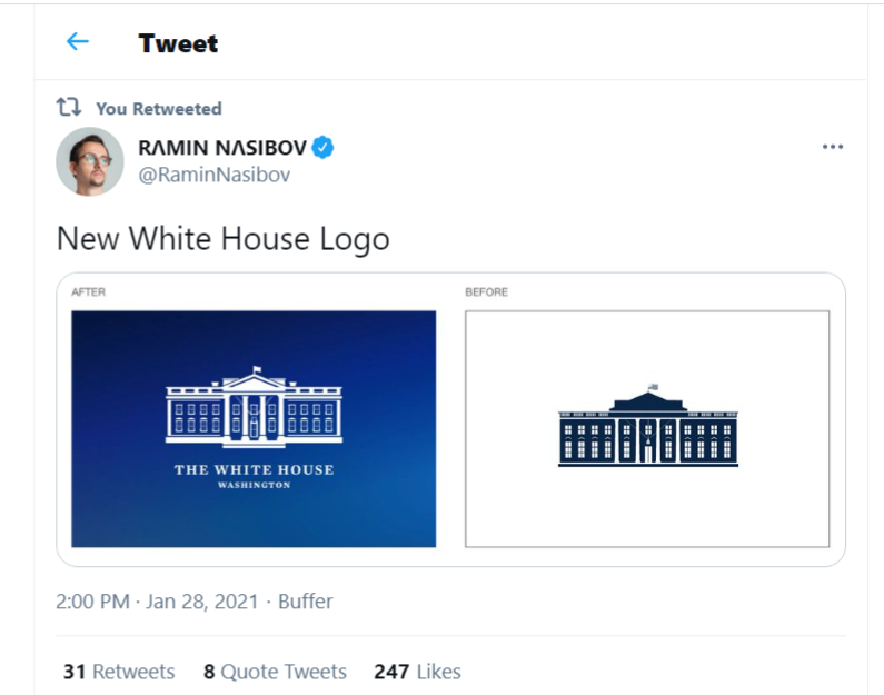 The White house changes its logo photo credit Ramin