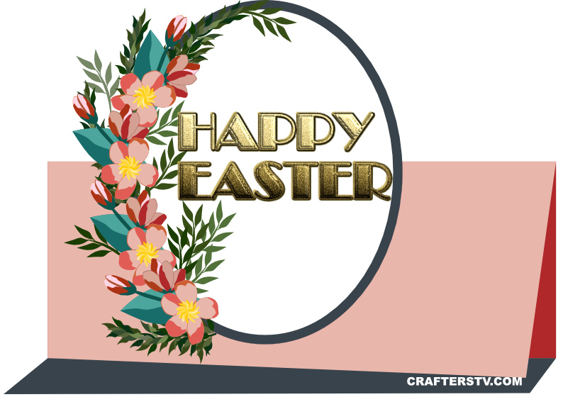 Easter Greeting Card 1 by Crafters TV and Anino Ogunjobi