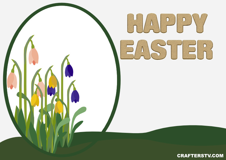 Easter Greeting Card 4 by Crafters TV and Anino Ogunjobi