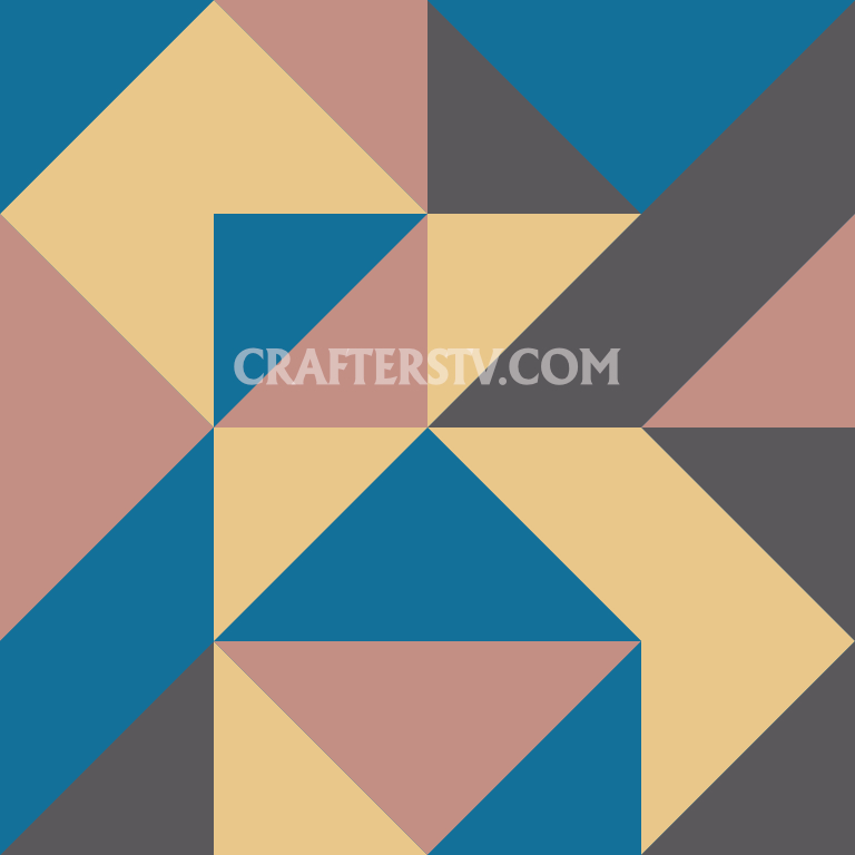 Patchwork block -Day 4 by Crafters TV and Anino Ogunjobi