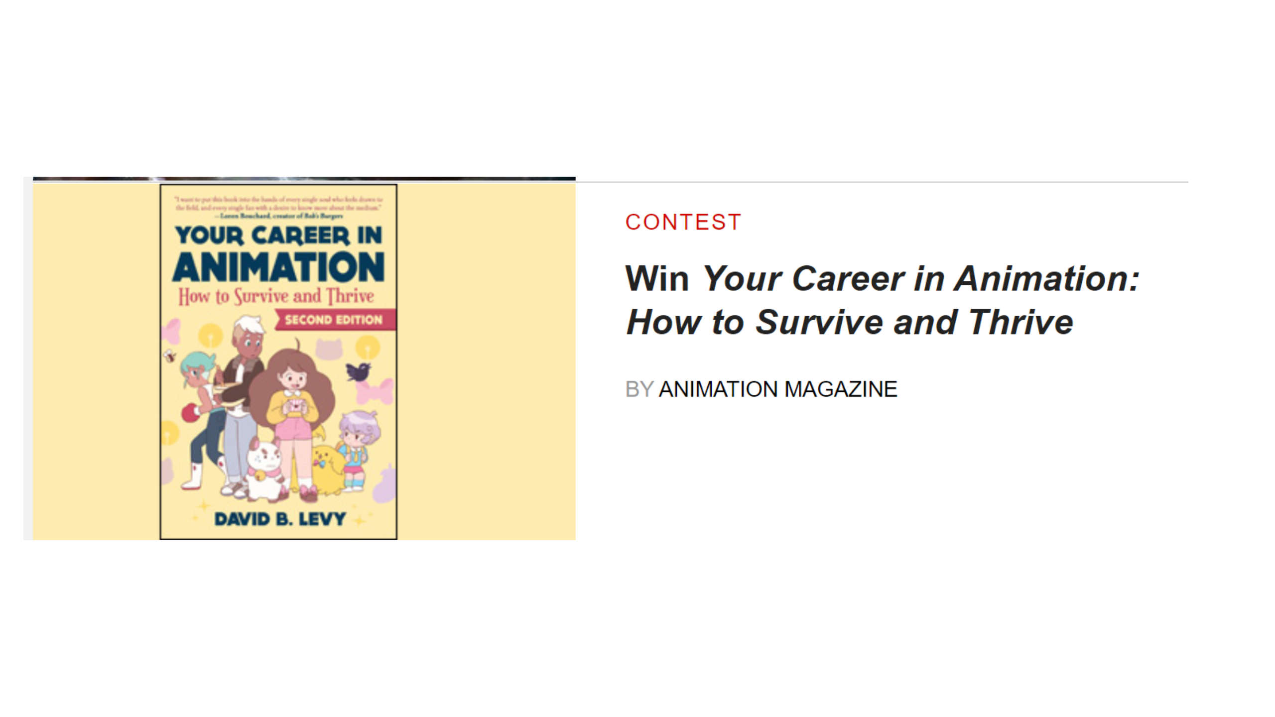 Animation-magazine-contest-your-career-in-animation-by-David-B-Levy