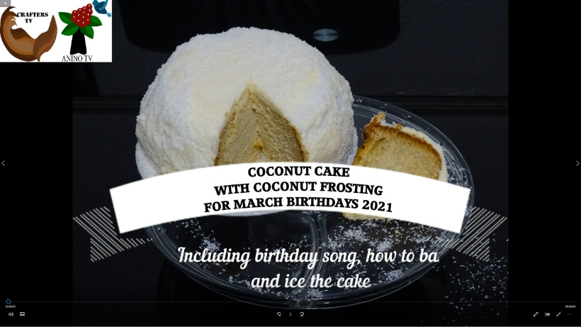 Coconut Cake 2021 March birthdays cake preview tag by Crafters T