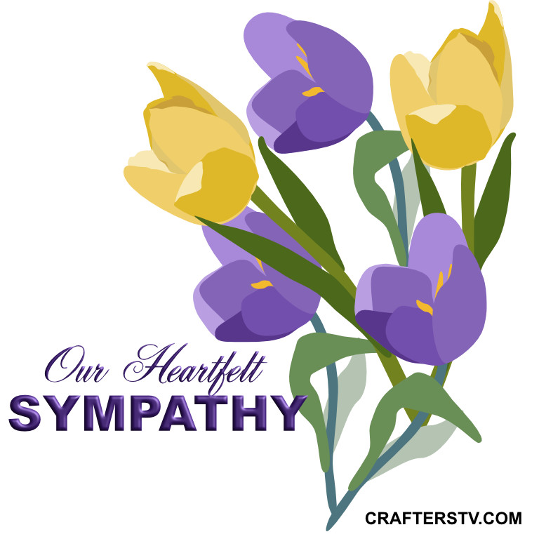 Sympathy greeting card for April 2021 by Crafters TV and Anino O
