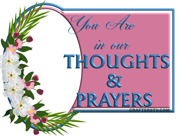 Thoughts and prayers greeting card for April 2021 by Crafters TV