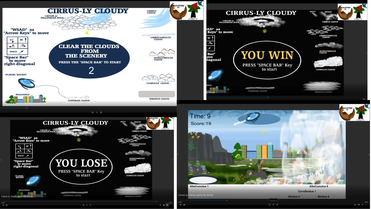 Cirrus-ly Cloudy game by Anino and Crafters TV