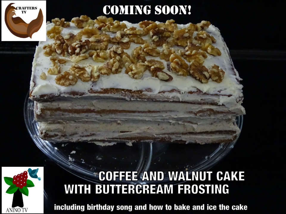 Coffee and Walnut Cake 2021 June birthdays cake preview tag by C